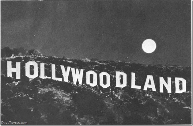 Hollywoodland by moonlight