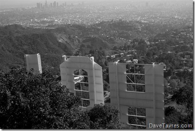 View from the Hollywood sign - DaveTavres.com
