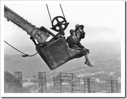 1923 publicity photo for the Hollywoodland development.